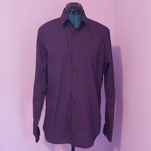 EUC Express Fitted Button Down Size M